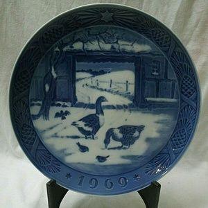 Farm Geese 1969 Royal Copenhagen Collector Plate